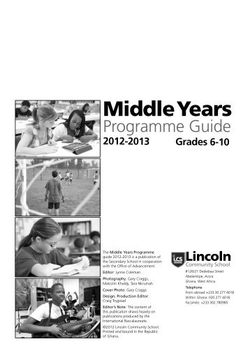 Middle Years - Lincoln Community School