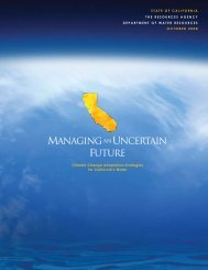 Managing an Uncertain Future - Department of Water Resources ...