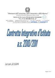 contratto integrativo d'istituto 2010-2011 - ISIS Via Ivon de Begnac