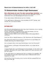 Til Statsminister Anders Fogh Rasmussen