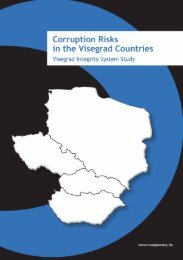 Corruption Risks in Visegrad Countries - Transparency International