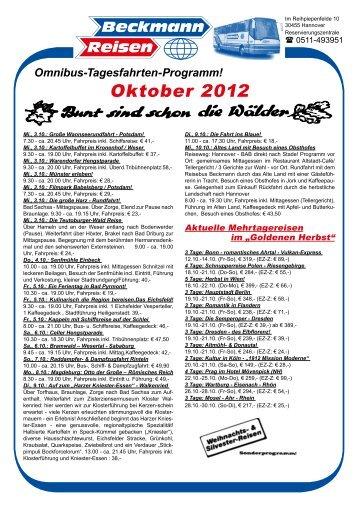 Tagesfahrten-Programm als PDF - Beckmann Reisen GmbH ...