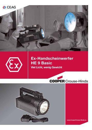 Ex-Handscheinwerfer HE 9 Basic - Cooper Crouse-Hinds