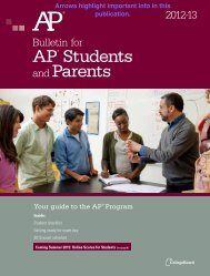 AP Info for Parents & Students - Lee Academy