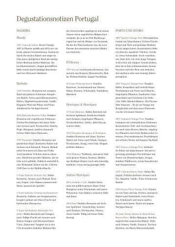 Degustationsnotizen Portugal als PDF-Download