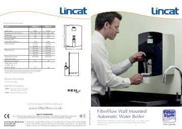 Wall mount water boiler