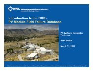 Introduction to the NREL PV Module Field Failure Database