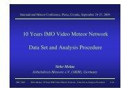 Sirko Molau - IMO Video Meteor Network Homepage