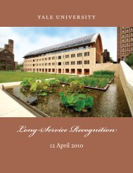 2010 Long-Service Recognition Yearbook - Yale University