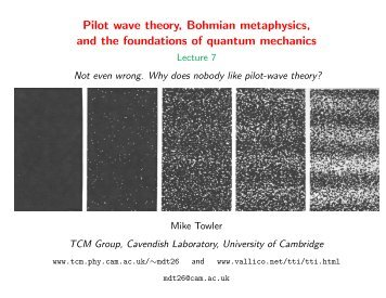 Pilot wave theory, Bohmian metaphysics, and the foundations of ...
