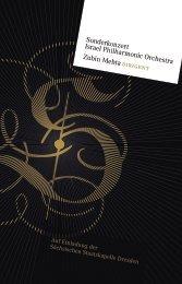 Sonderkonzert Israel Philharmonic Orchestra Zubin Mehta