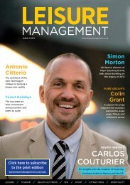 Leisure Management issue 1 2013 - Leisure Opportunities