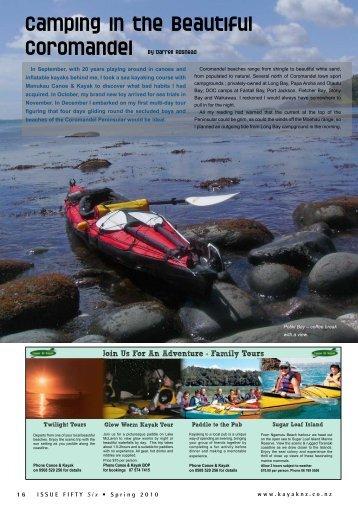 Camping in the beautiful Coromandel - New Zealand Kayak Magazine