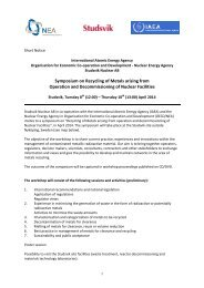 Symposium on Recycling of Metals arising from Operation ... - Studsvik