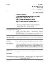NF DTU 43.4 P1 1 Toitures en éléments porteurs en bois et ...