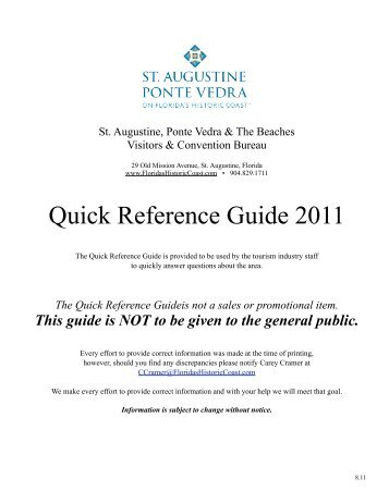 Quick Reference Guide 2011 - sapvb.org