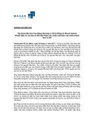 Tập Đoàn Ma San Huy Động Khoảng 2.100 tỷ Đồng ... - Masan Group