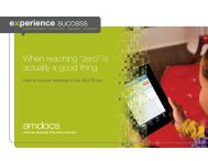 "When reaching ""zero"" is actually a good thing - Amdocs"