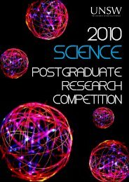 2010 Postgraduate Research Competition - UNSW Science