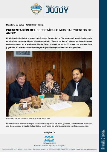 """presentación del espectáculo musical """"gestos de amor"""""""