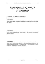 Esercizi - PP con soluzioni del capitolo ''Dinamica' - ZyXEL NSA210 ...