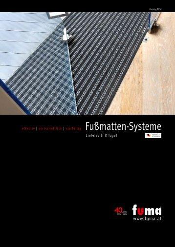 Katalog FUMA Fußmatten-Systeme 2014 als PDF