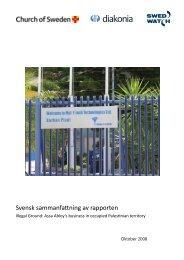 Svensk sammanfattning av rapporten - Diakonia
