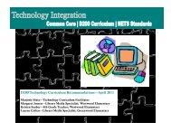 K-5 Technology Integration Framework - Teaching & Learning
