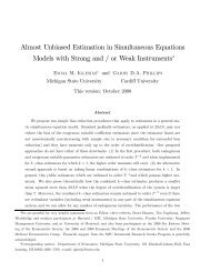 Almost Unbiased Estimation in Simultaneous Equations Models with ...