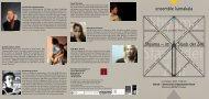 Shyama – im Staub der Zeit ensemble kamakala - The Artists Body