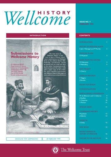 Wellcome History 9 (February) - Wellcome Trust