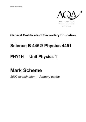Mark Scheme - Physics@egs