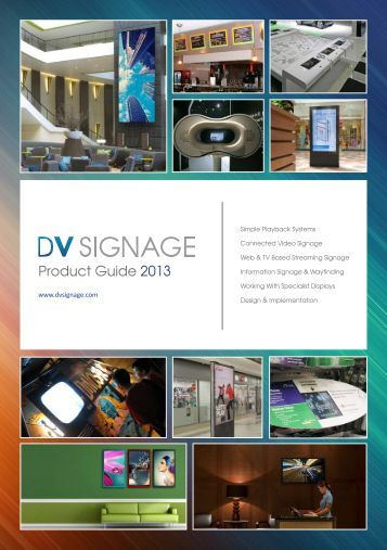 Product Guide 2013 - DV Signage