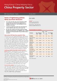 China Property Sector - the DBS Vickers Securities Equities Research