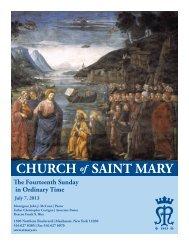 Sunday, July 7, 2013 - St. Mary's Roman Catholic Church