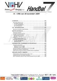 Nr. 1396 van 30 november 2009 - vhv handbalbase