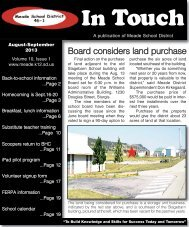 In Touch newsletter for Aug.-Sept. - Meade School District