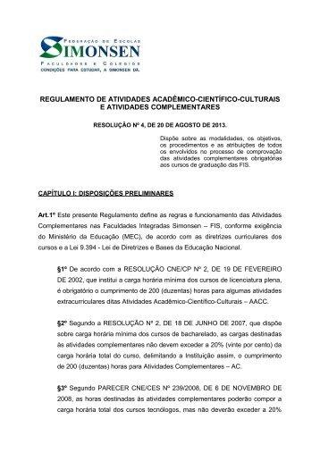 AACC/AC - Regulamento - Simonsen
