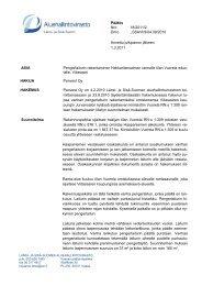 Päätös Nro 18/2011/2 Dnro LSSAVI/9/04.09/2010 Annettu ...