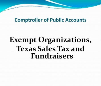 Sales Tax - Texas Comptroller of Public Accounts