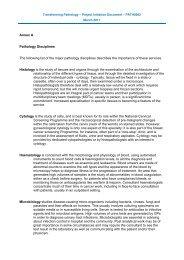 Annex - pathology disciplines - NHS Strategic Projects Team