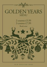 our Golden Years Menu, starting from £5.99 for 2 ... - Old English Inns