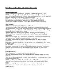 Irish Screen Directors International Awards - SDGI