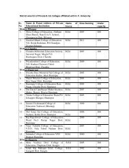 District wise list of Private B. Ed. Colleges affiliated with HP University