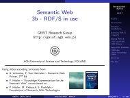 Semantic Web 3b - RDF/S in use