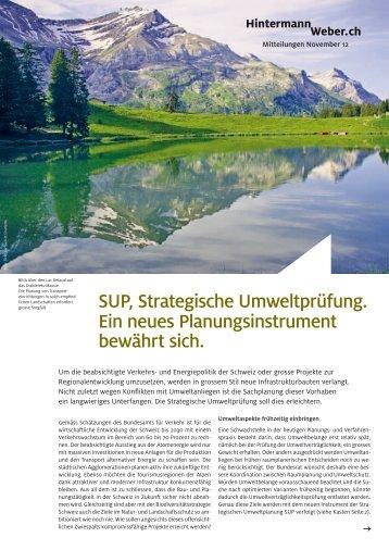 SUP, Strategische Umweltprüfung. Ein neues Planungsinstrument ...