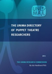 Puppetry Research Guide - Unima