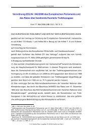 Verordnung (EG) - RACK rechtsanwaelte