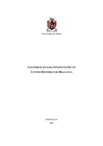 contribuição para intervenções no centro histórico de bragança