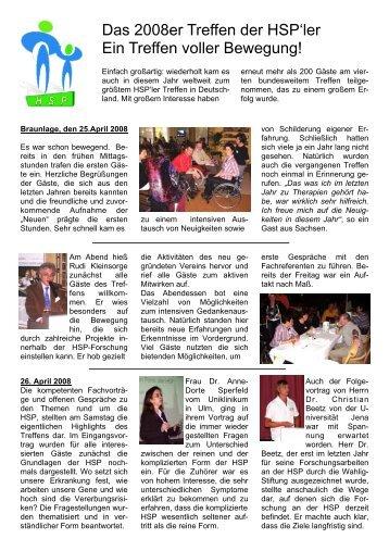 Ein erster Bericht zum Treffen in Braunlage - HSP-Selbsthilfegruppe ...